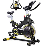 Best Stationary Bikes - pooboo Indoor Cycling Bike, Belt Drive Indoor Exercise Review