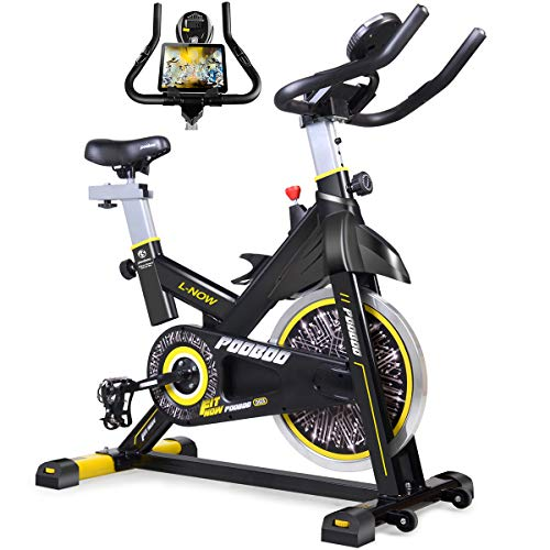 Buy Cheap pooboo Indoor Cycling Bike, Belt Drive Indoor Exercise Bike,Stationary Bike LCD Display fo...