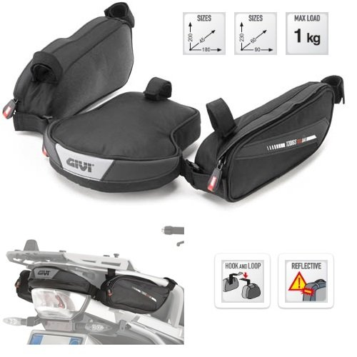 Compatibel met BMW R 1250 GS 2019 BAG achter motorfiets GIVI XS315 tas met 2 vakken + 2 vakken lantaarn met zwart