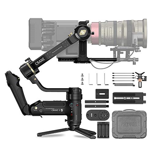 ZHIYUN Crane 3S Cinema Camera Gimbal Stabilizer (SMARTSLING KIT), Professional Handheld 3-Axis Gimbal Stabilizer for DSLR , Mirrorless Camera and Video Camera ,Max Payload 14.3lb