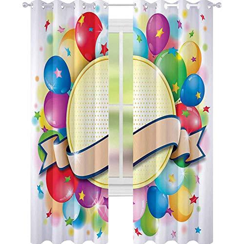 YUAZHOQI Cortinas para sala de estar Celebración Badge Cortinas para dormitorio 132 x 213 cm