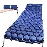 Ultraleichte Isomatte,schnelle Aufblasen Camping Luftmatratze Matratze Schlafmatte aus TPU für Camping, Reise, Outdoor, Wandern, Strand (BLAU)