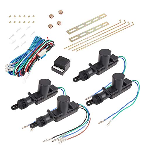 X AUTOHAUX 4 Pack Universal Car Power Door Lock Actuator 12 Volt Motor Kit 4 Actuators
