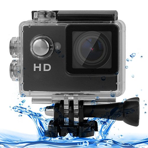 Sports Cameras, A7 HD720P 2.0 inch LCD Screen Sports Camcorder with Waterproof Case, 30m Waterproof