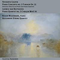 Fryderyk Chopin: Piano Concerto No. 2 F-minor Op. 21 (Original Version for Piano and String Quartet) / L. v. Beethoven: Piano Quartet No. 3 C-major WoO 36 by Roger Woodward