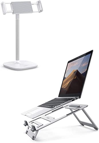 2021 UGREEN popular popular Tablet Stand Holder Height Adjustable with Laptop Stand Bundle Compatible for 2018 iPad Pro 12.9, iPad Air 10.5 Mini 4 3 2, Samsung Galaxy Tab A 10.1, Nintendo Switch outlet sale