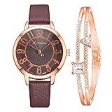 WallDecalsAndArt Watches for Women Girls Quartz Analog Wrist Watches Fashion Bracelet Watch (G,1PC)