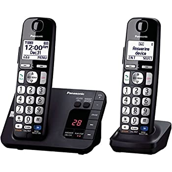Panasonic KX-TGE232B Cordless Phone 2 Handsets