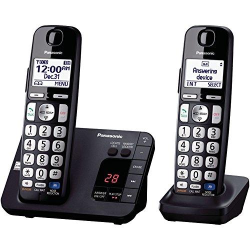 Panasonic KX-TGE232B Cordless Phone with Answering Machine