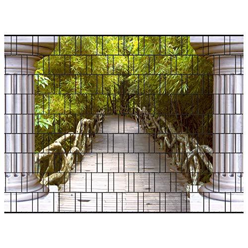 PerfectHD Zaunsichtschutz - Efeu Zaun - Motiv Thailand - Sichtschutz für den Garten - 2,50 x 1,80 x 0,19 m - 9 Streifen - 30 Varianten