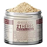 Glamorous Hub Bella Vita Organic 21 Herbs Face Pack per pelle luminosa per donne e uomini, 50 g