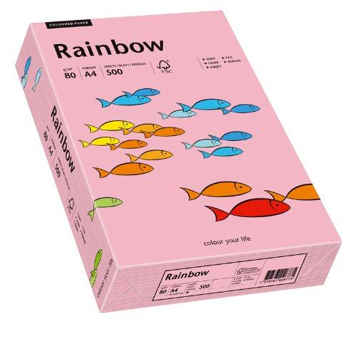 Papyrus 88042541 Drucker-/Kopierpapier bunt, Bastelpapier: Rainbow 80 g/m², A4 500 Blatt, matt, rosa