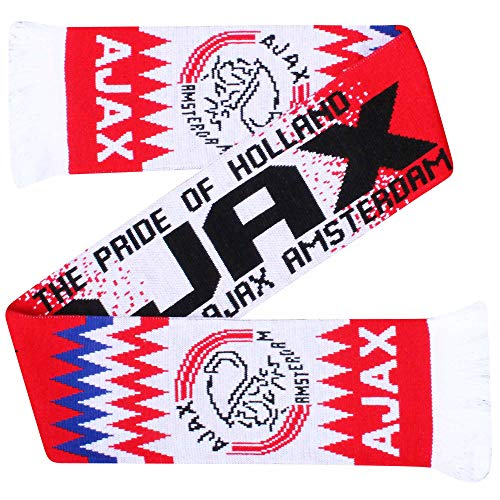 AFC Ajax Amsterdam Crest - Bufanda (100% acrílico)