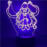 Illusion Lámpara 3D LED de noche de asesinato clase A 16 colores cambiantes de la lámpara de escritorio para niños cumpleaños regalos de Navidad