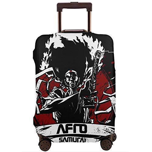 Luggage Cover Afro Sam-Urai Travel Suitcase Protector Zipper Suitcase Cover Washable Fashion Printing Luggage Cover Zipper Travel Suitcase Protector