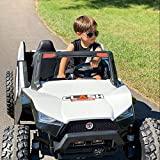 UTV White Adjustable SEAT 4X4 Sport Edition 2 Seater 24VOLTS Buggy/UTV Style Kids Electric Ride On Car with RC - Power Wheel TV Screen Ride ON UTV Buggy 24v Kids Ride On Car with Remote Control RZR