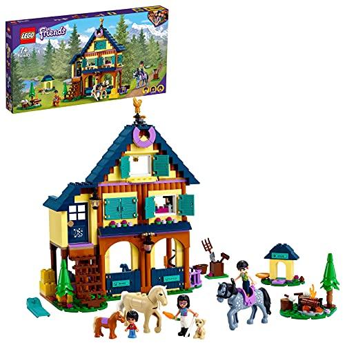 LEGO 41683 Friends Bosque: Centro de Equitación, Juguete de Construcción de Rancho con Establo para Caballos de Juguete