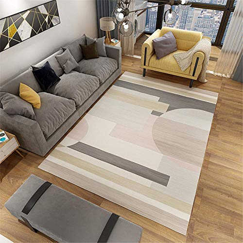 RUGMRZ Small Rug grey Carpet salon gray pink geometric pattern multi-size carpet anti-slip Large Rugs For Living Room 120X180CM Rugs And Carpets For Living Room 3ft 11.2''X5ft 10.9''