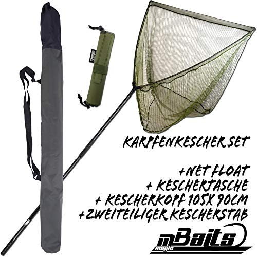 Angel-Berger Magic Baits Karpfenkescher Set Carp Net Kescher Karpfen Angelkescher Unterfangkescher