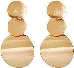Cuelga los pendientes 1 par Moda Oro Plata Color irregulares geométricas redondas para mujeres de la muchacha de baile de boda joyería