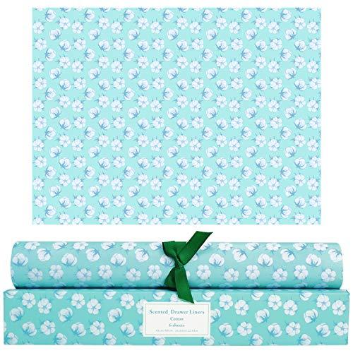 SCENTORINI Schrankpapier Baumwolle Duft für Schubladen, Kommodenregal, Wäscheschrank und Kleiderschrank, 42cm x 58cm, 6 Blatt