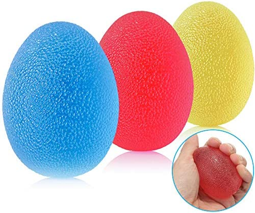 Hand Therapy Exercise Balls Stress Relief Ball for Adults and Kids Gel Squeeze Egg Balls Finger product image