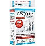 "Nasopure Nasal Wash, Value Refill Kit, ""The Nicer Neti Pot"" Sinus Wash Kit, Comfortable Nasal Rinse 80 Salt Packets (3.75 Grams Each), Nasal Congestion, Cold, Flu, Allergy, Nasal Irrigation System"