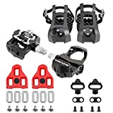 "Venzo Repacked Compatible with Peloton -3 in 1- Look Delta, Toe Cage, SPD - Indoor Bike Pedals - Fitness Exercise Indoor Cycling Pedals Compatible with Shimano SPD,Toe Clip & Delta - 9/16"" Thread"
