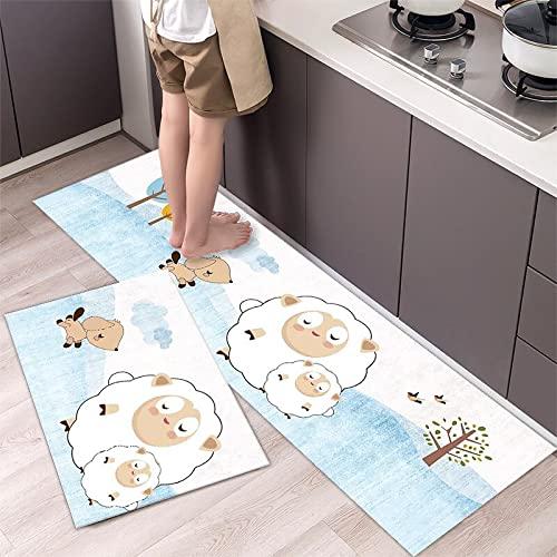 Alfombra de Piso de Cocina de Estilo nórdico Simple de Moda Alfombra para el hogar Alfombra de Puerta de Tira Larga decoración Moderna para el hogar n. ° 1 40X120cm