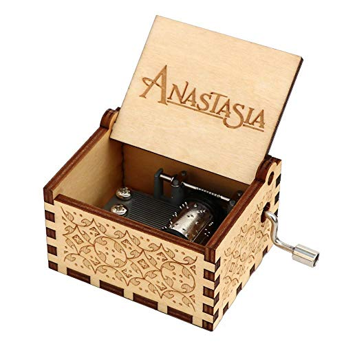 N/X Grabe el Regalo de cumpleaños Hecho a Mano de Anastasia Music Box de Madera para la Navidad, la Hija, los Regalos de cumpleaños para los Amantes