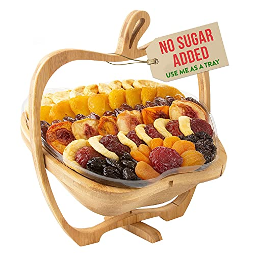Oh! Nuts Dried Fruit Gift Basket | Healthy No Sugar Added Huge Assortment of Dried Fruit Gourmet Holiday Gift | Food Snack Set Ideas for Halloween, Christmas, Thanksgiving, Sympathy, Birthday Gift