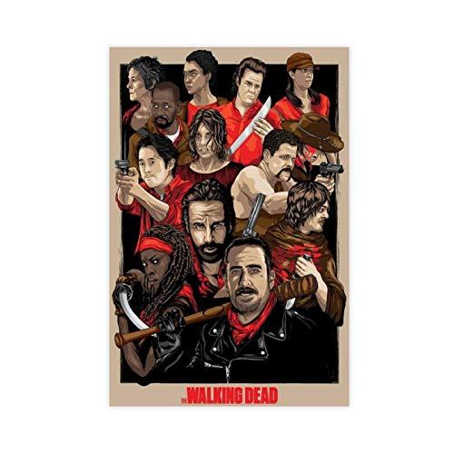 Teleplay Poster The Walking Dead Season 10 41 - Póster de lona para dormitorio, deportes, paisaje, oficina, habitación, decoración, regalo, 50 x 75 cm, estilo unframe-1