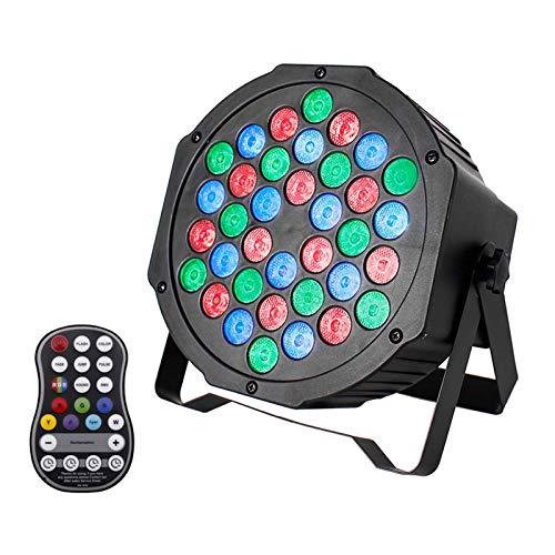 UKing Wiederaufladbar LED Par Licht Eingebaute Batterie 36 Led Bühnenlicht DMX Strahler RGB Scheinwerfer Lichteffekte mit Fernbedienung 7 Beleuchtung Modi for DJ Disco Partylicht Bühnenlicht