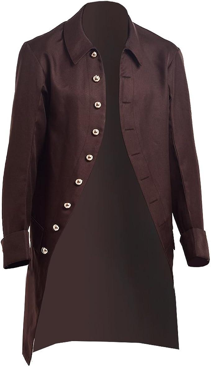 Men's Steampunk Jackets, Coats & Suits BLESSUME Steampunk Victorian Frock Coat Colonial Men Jacket  AT vintagedancer.com