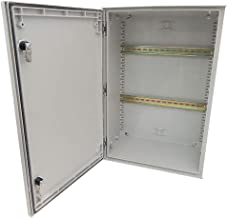 Altelix 24x16x9 Industrial DIN Rail FRP Fiberglass NEMA 3X Box Weatherproof Enclosure with Hinged Lid & Quarter-Turn Latches
