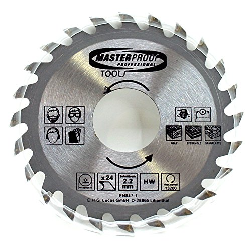 Cirkelzaagblad 100 x 2,2 mm 24 tanden hout spaanplaat multiplex hand tafel cirkelzaag