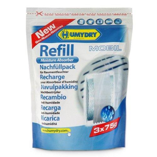 HUMYDRY Nachfüllpackungen Hygro Bag 3x75g für Luftentfeuchter ohne Strom