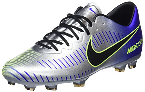 Nike Unisex-Erwachsene Mercurial Vapor XI Neymar FG JR 940855 4 Fitnessschuhe, Mehrfarbig (Racer Blue/Black-Chr 407), 38.5 EU