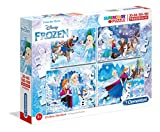 Clementoni 07723 07723-Supercolor Frozen Puzzle-20 + 60 + 80 + 180pc, Multicolor
