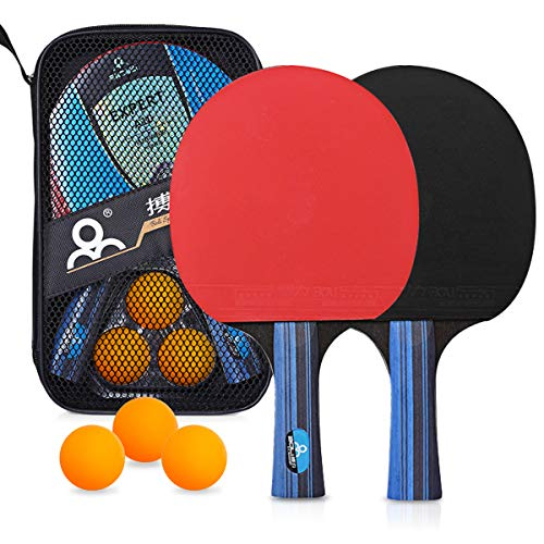 Find Bargain Number-one Table Tennis Racket, 2 Premium Rackets and 3 Ping Pong Balls Ping Pong Set w...