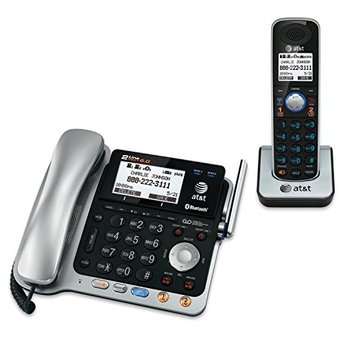 Panasonic KX-TGF382M Link2Cell Bluetooth Corded//Cordless Phone System 2 Handsets