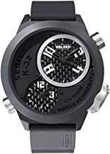 Welder by U-Boat K32 Oversize Triple Time Zone Black Ion-Plated Steel Mens Watch K32-9202