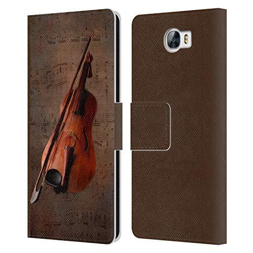 Head Case Designs Offizielle Simone Gatterwe Geige Vintage Und Steampunk Leder Brieftaschen Huelle kompatibel mit Huawei Y6 II Compact