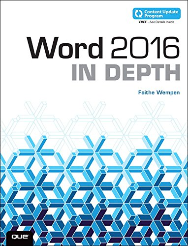 WORD 2016 IN DEPTH (INCLUDES C