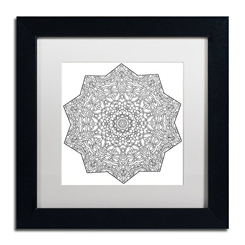 Mixed Coloring Book 18 by Kathy G. Ahrens, White Matte, Black Frame 11x11-Inch
