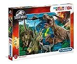 Clementoni - 27196 - Supercolor Puzzle - Jurassic World - 104 Pezzi - Made In Italy - Puzzle Bambini 6 Anni +
