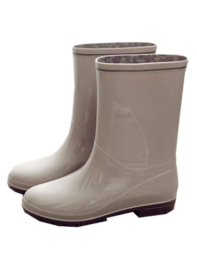タンク織るユーザー[YINUO] [イダク] レディース レインブーツ 無地 梅雨 雨靴 春夏 大きいサイズ 靴 雨の日 レインシューズ シンプル キレイめ