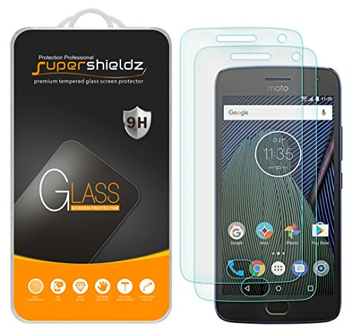 (2 Pack) Supershieldz Designed for Motorola (Moto G5 Plus) and Moto G Plus (5th Generation) Tempered Glass Screen Protector Anti Scratch, Bubble Free