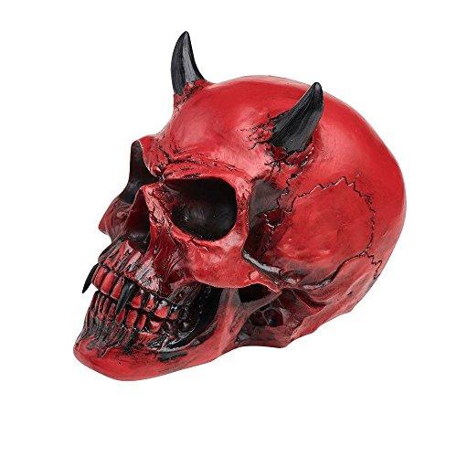 Alchemy Gothic Crimson Demon Skull