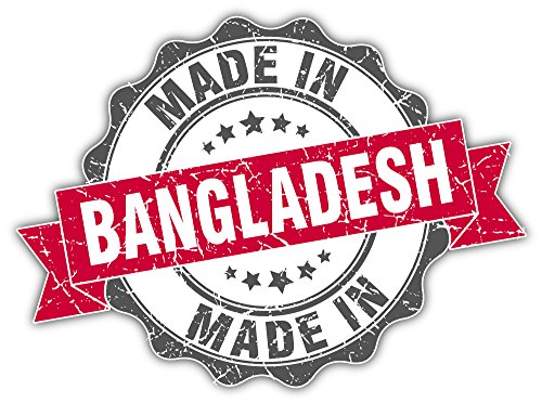Gemaakt in Bangladesh Grunge stempel Bumper Sticker Vinyl Art Decal voor auto vrachtwagen Van Window Bike Laptop